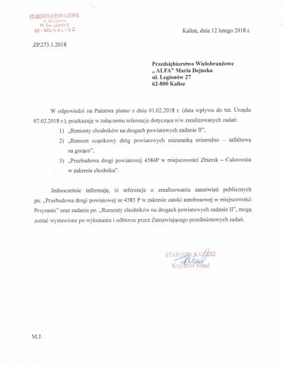 Referencje za 2017-2